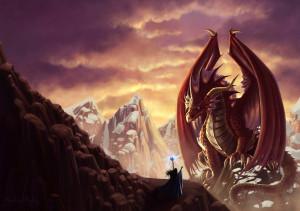 The_dragon_and_the_sorceress_by_Shantalla
